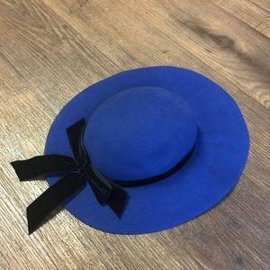 Blue Doeskin Wool Hat